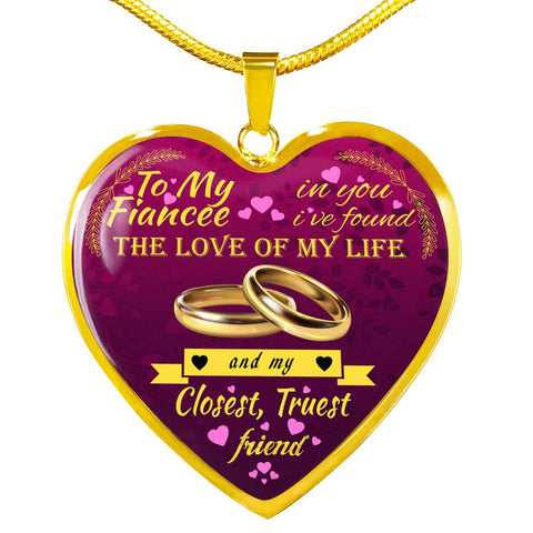 Beautiful Luxury Necklace For Your Fiancee - In You I've Found...
