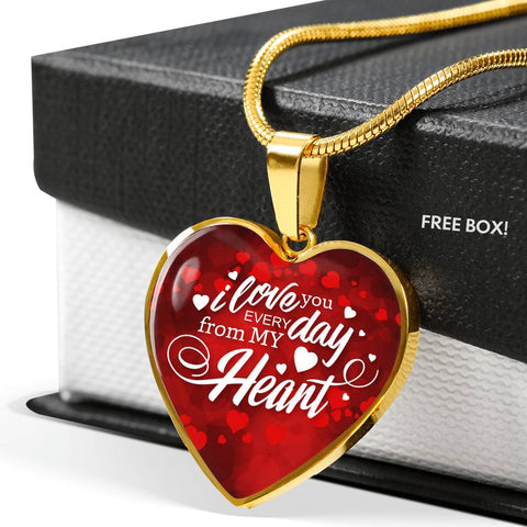 Beautiful Valentine's Day Luxury Necklace For Your Lady - I Love You Every Day...