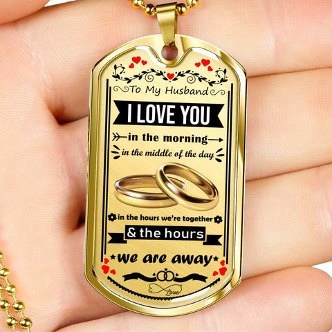 Image of Luxury Military Necklace For Your Husband