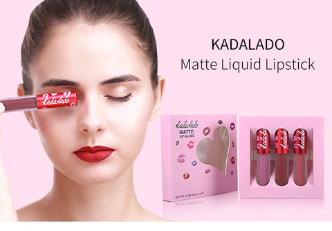 Super Long Lasting Waterproof Matte Lip Gloss Liquid Lipstick (3 shades/set)