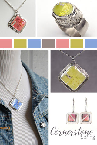Spring 2021 Silver and Enamel Jewelry Collection