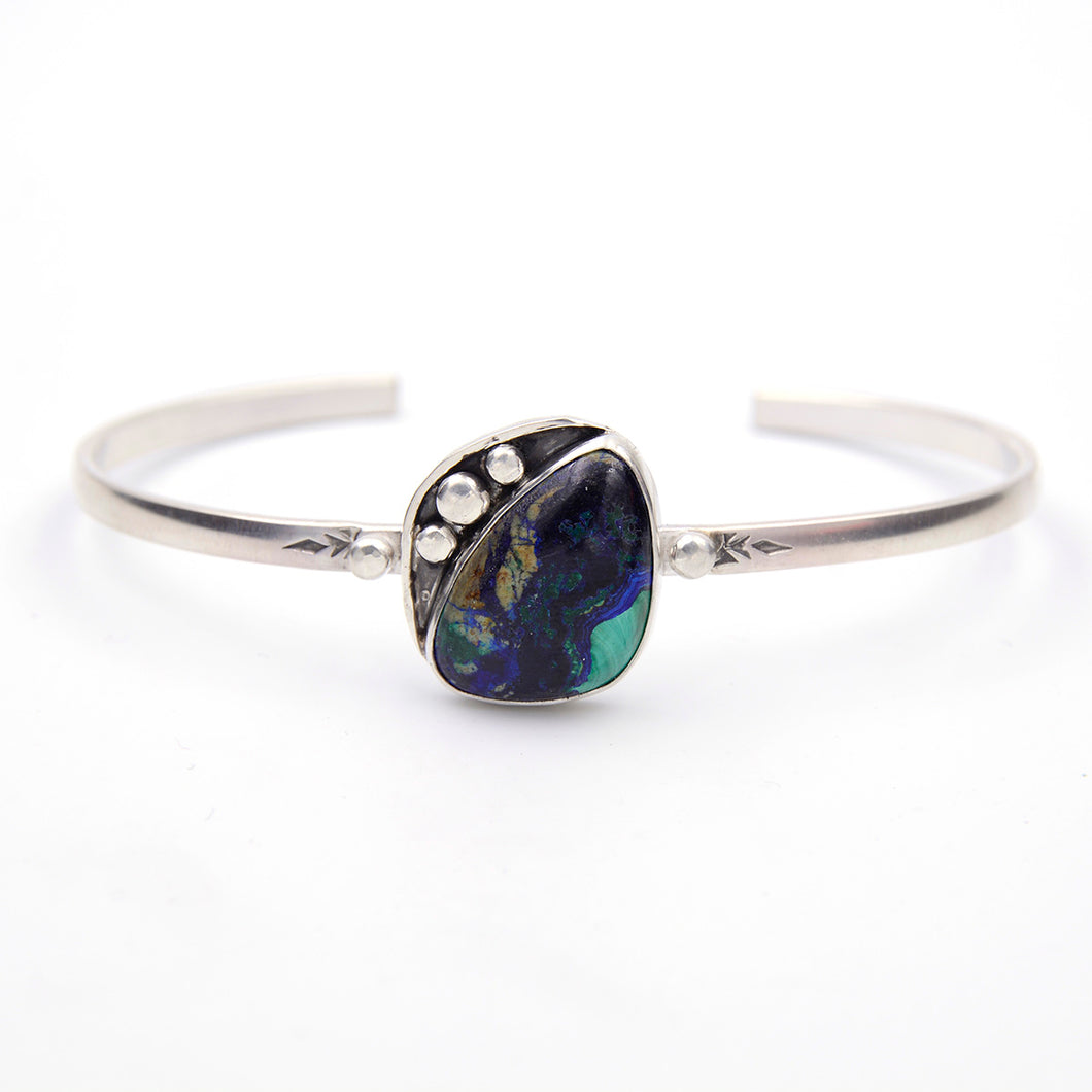 Genuine Gemstone Azurite Stacking Cuff