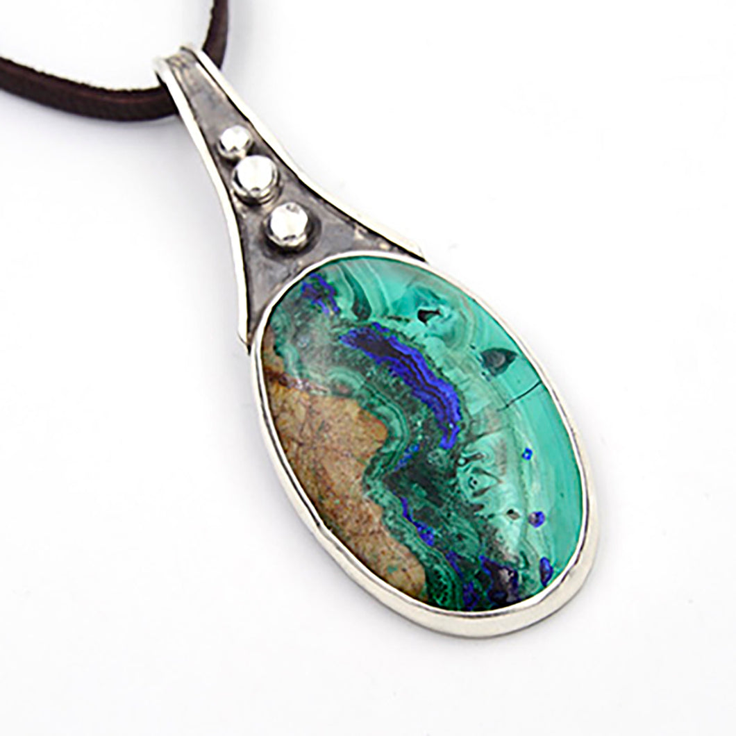 Genuine Gemstone Azurite Necklace #2