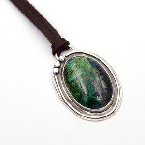 Genuine Gemstone Azurite Necklace #3