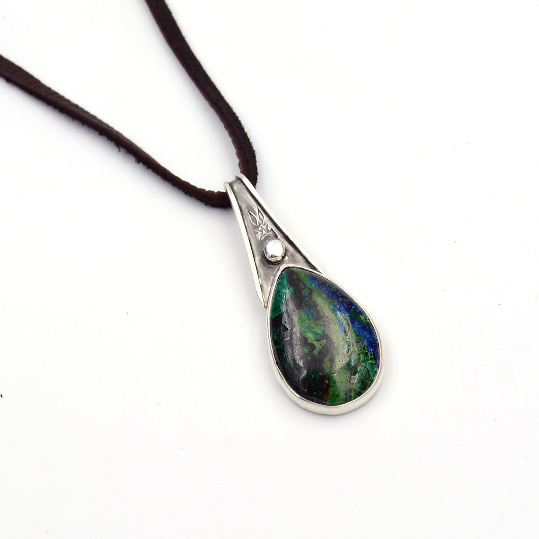 Genuine Gemstone Azurite Necklace #1