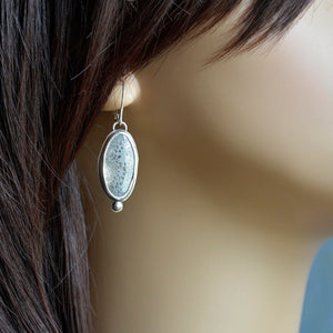River Stones Enamel Earrings