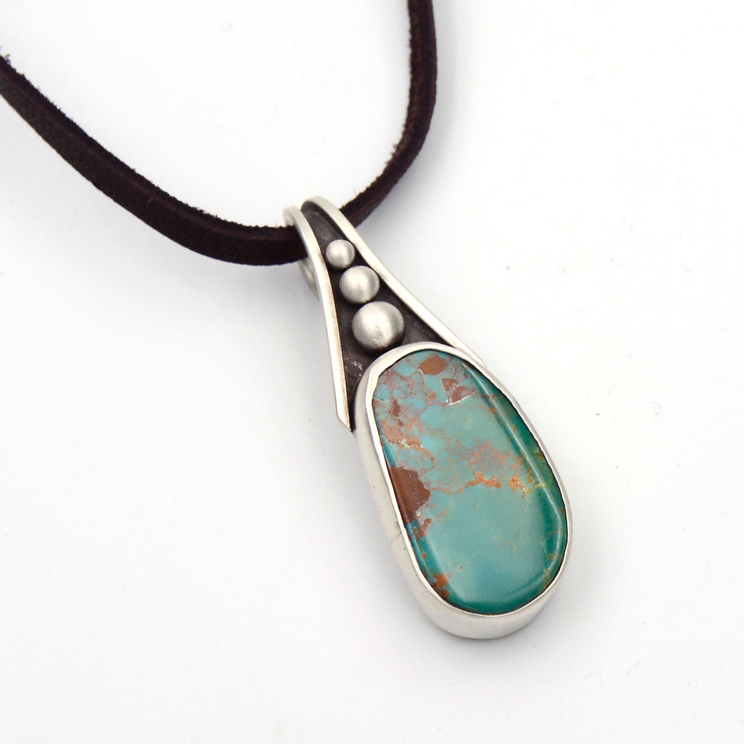 Genuine Gemstone Turquoise Pod Necklace