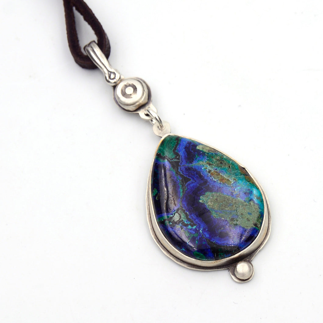 Genuine Gemstone Azurite Necklace - Earth