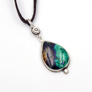 Genuine Gemstone Azurite Necklace - Sea
