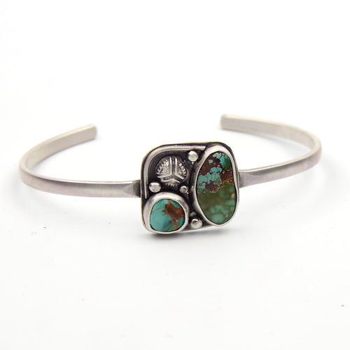 Genuine Gemstone Turquoise Stacking Cuff