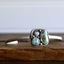 Load image into Gallery viewer, Genuine Gemstone Turquoise Stacking Cuff