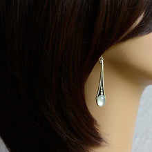 Load image into Gallery viewer, Rivers: Aquamarine Earrings