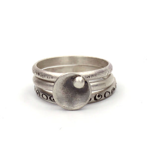 Silver Pods Stacking Rings