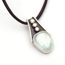 Load image into Gallery viewer, Rivers: Aquamarine Pendant