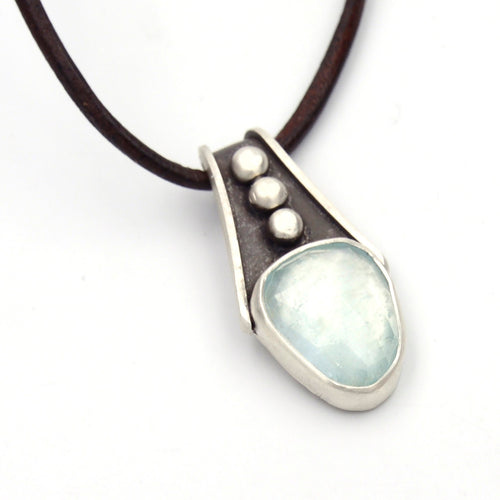 Rivers: Aquamarine Pendant