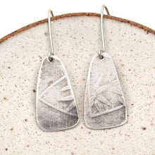 Load image into Gallery viewer, Floral Relic Silver Earrings