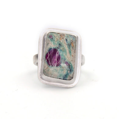 Ruby in Fuchsite Ring - Size 6.5