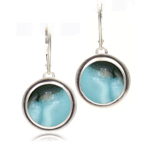 Round Leverback Earrings