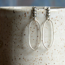 Load image into Gallery viewer, River Stones Hoop Earrings