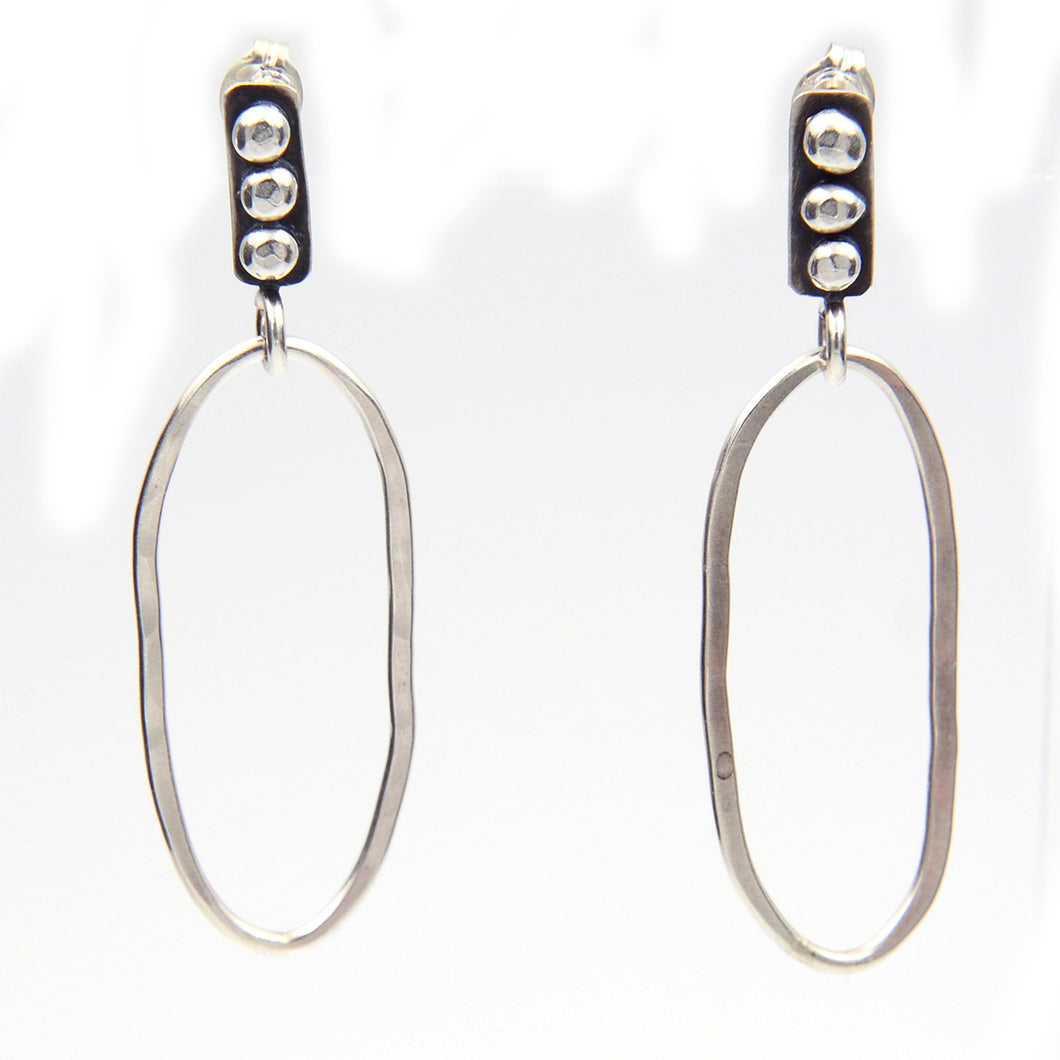 River Stones Hoop Earrings