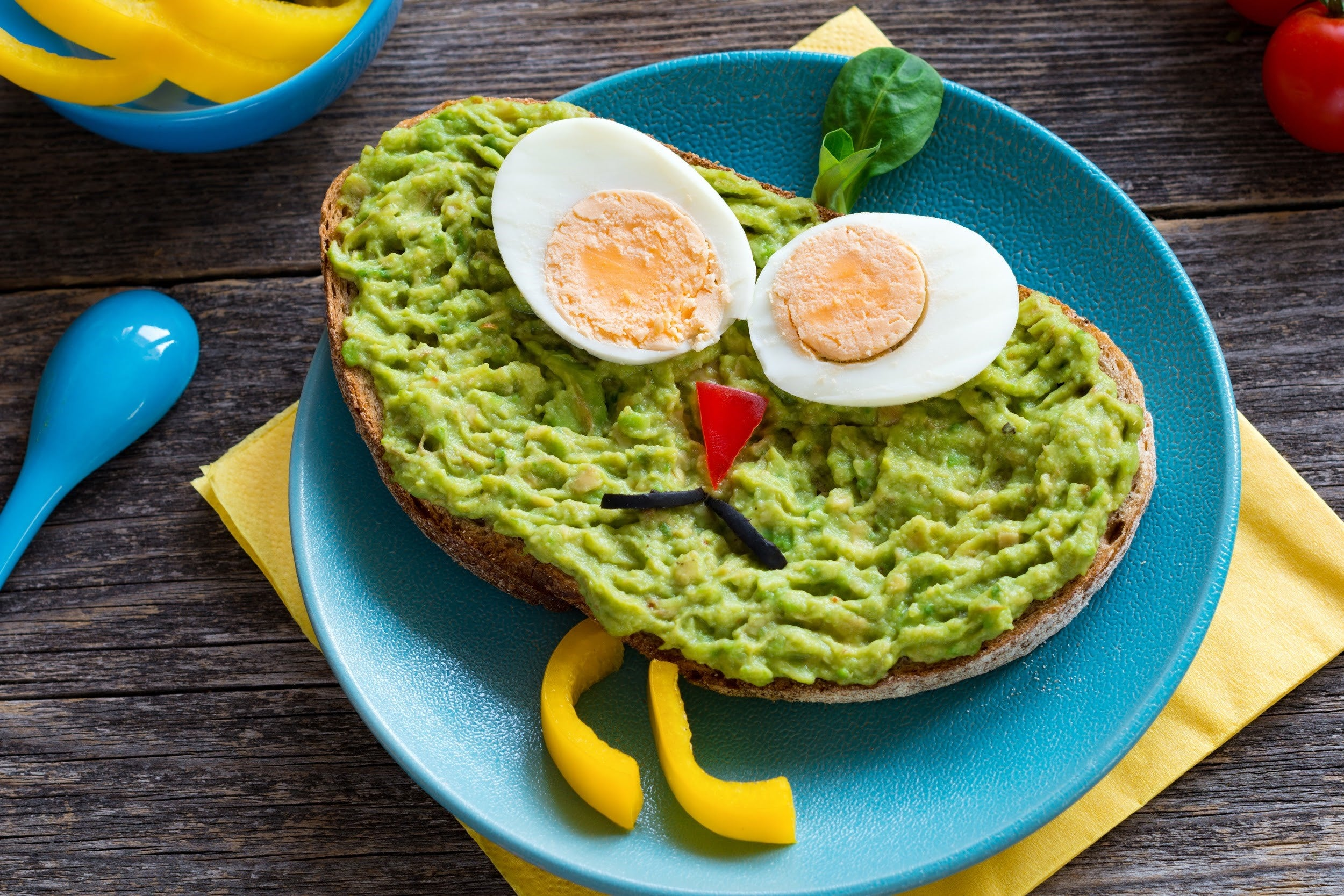 top breakfast recipes for kids with attention deficit disorders - avocado toast