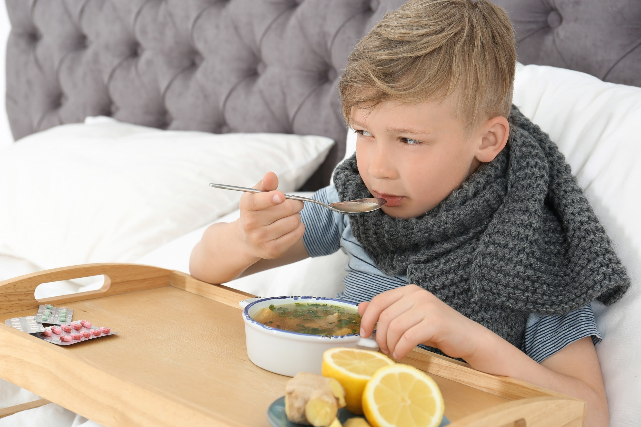 best foods for sick kids by illness - chicken noodle soup for cold and flu