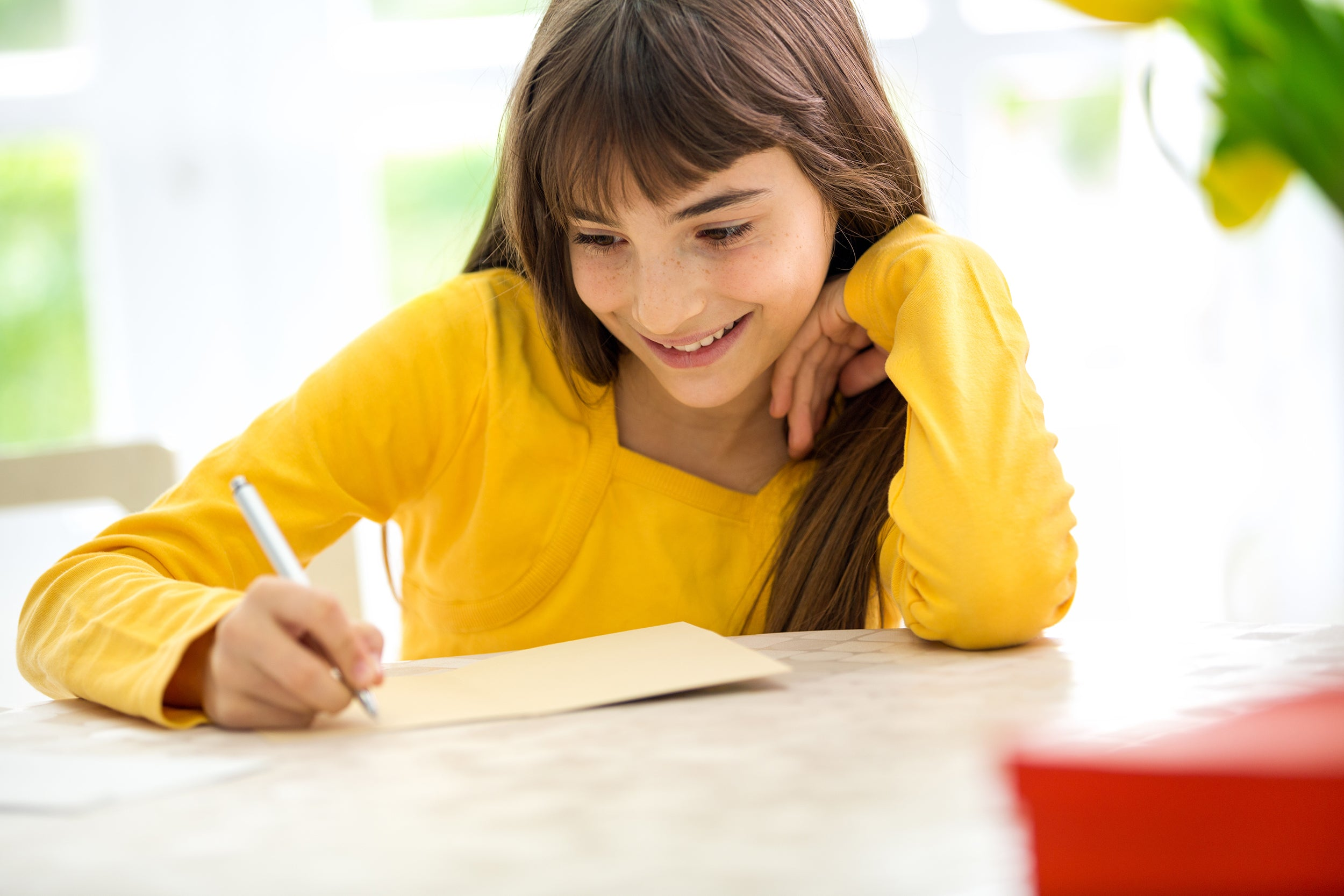 Random Acts of Kindness Ideas for Kids - writing thank you notes