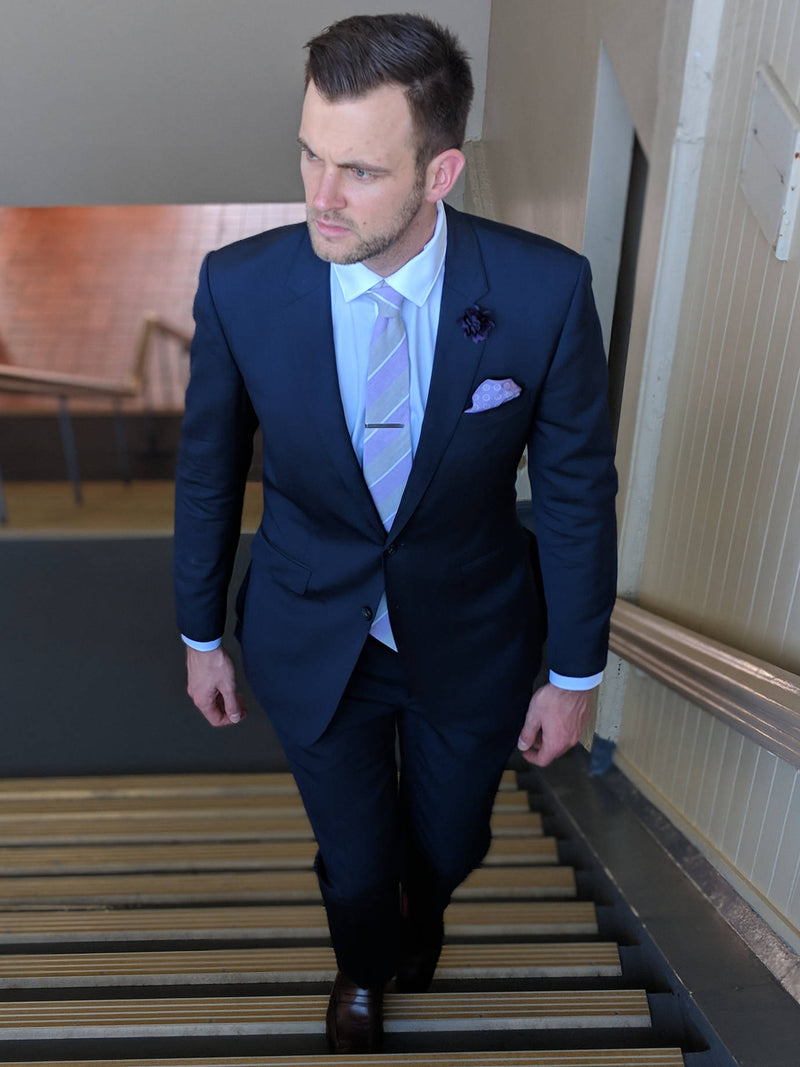 Well Dressed Gentleman - Men's Suit Fit - Men's Blue Suit