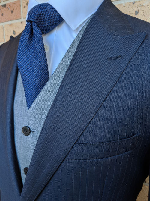 Men's Necktie | Men's Blue Necktie | Brock Alexander