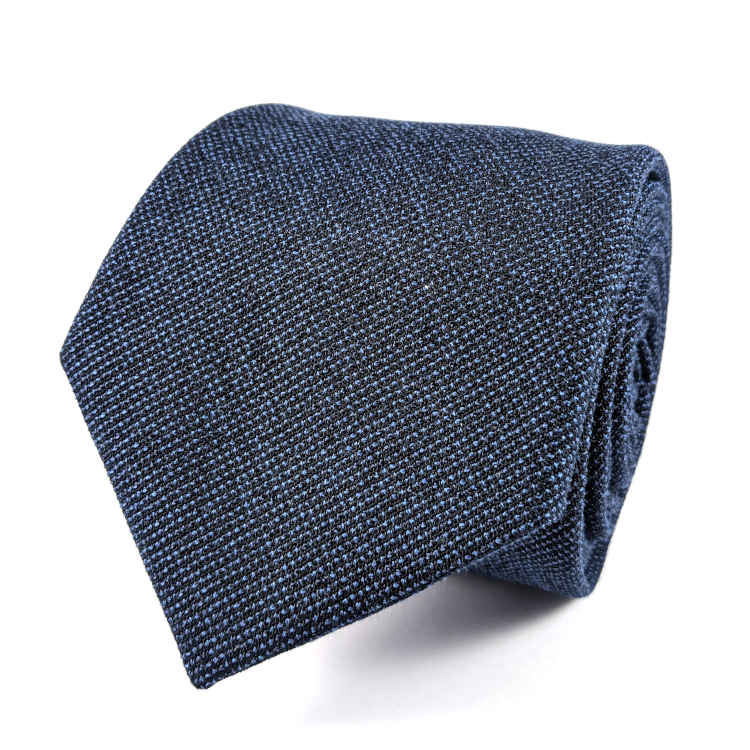 Men's Blue Cotton Necktie | 100% Cotton Necktie | Navy Blue Necktie | Brock Alexander