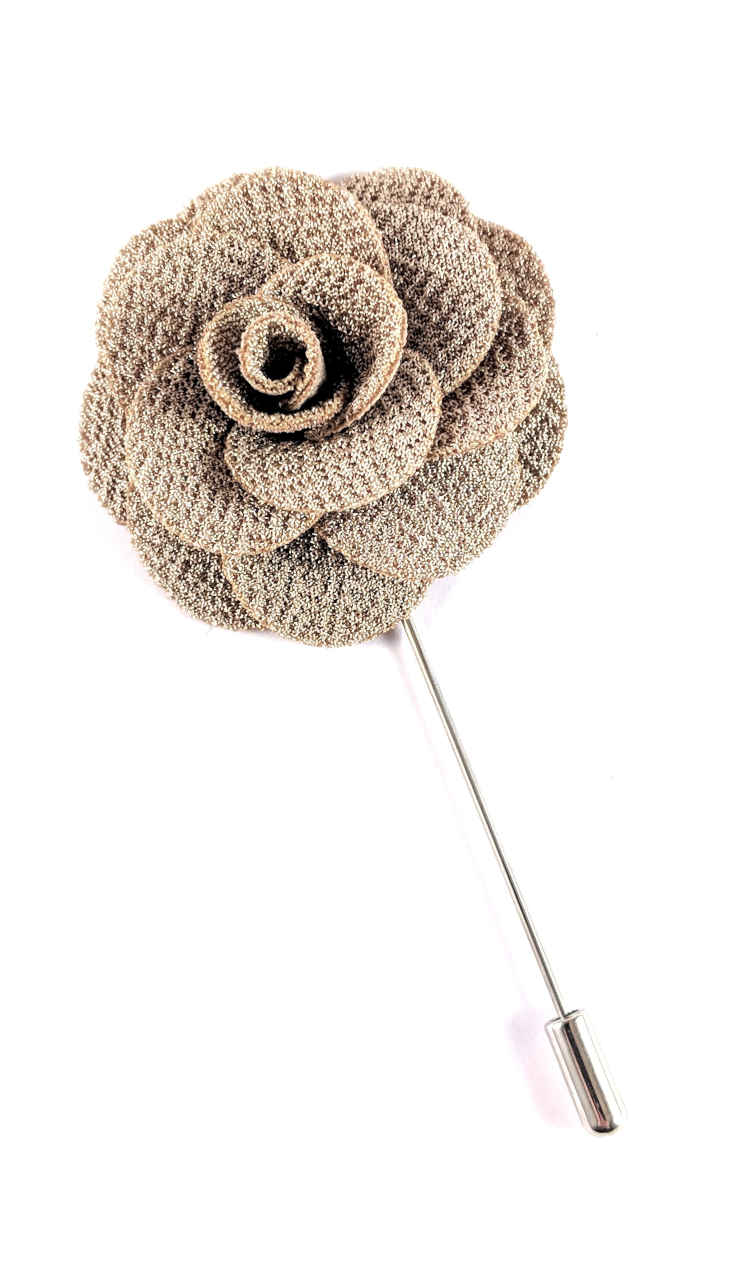 Men's Beige Lapel Flower | Suit Pin | Beige Lapel Pin | Classic Lapel Pins | Brock Alexander