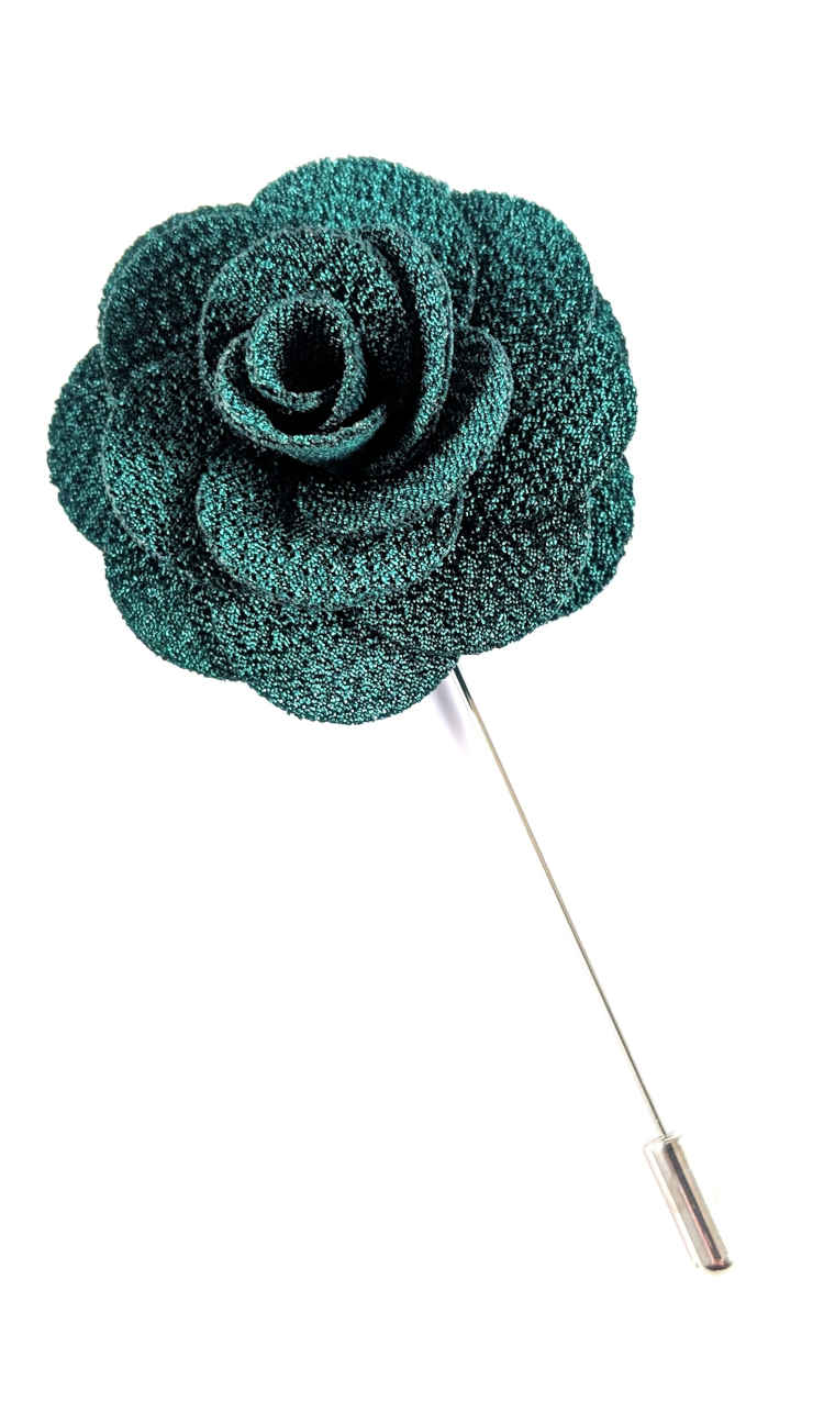 Men's Green Lapel Flower | Suit Pin | Green Lapel Pin | Classic Lapel Pins | Brock Alexander
