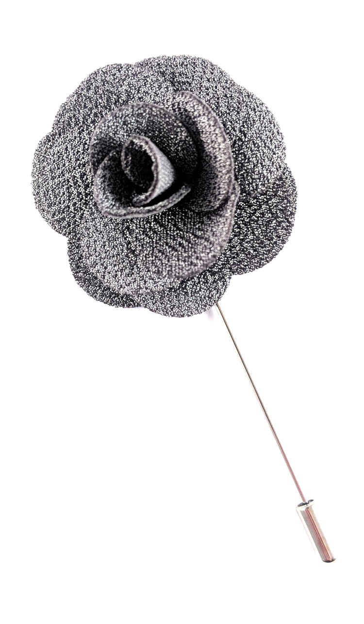Mens Grey Lapel Flower | Suit Pin | Grey Lapel Pin | Classic Lapel Pins | Brock Alexander