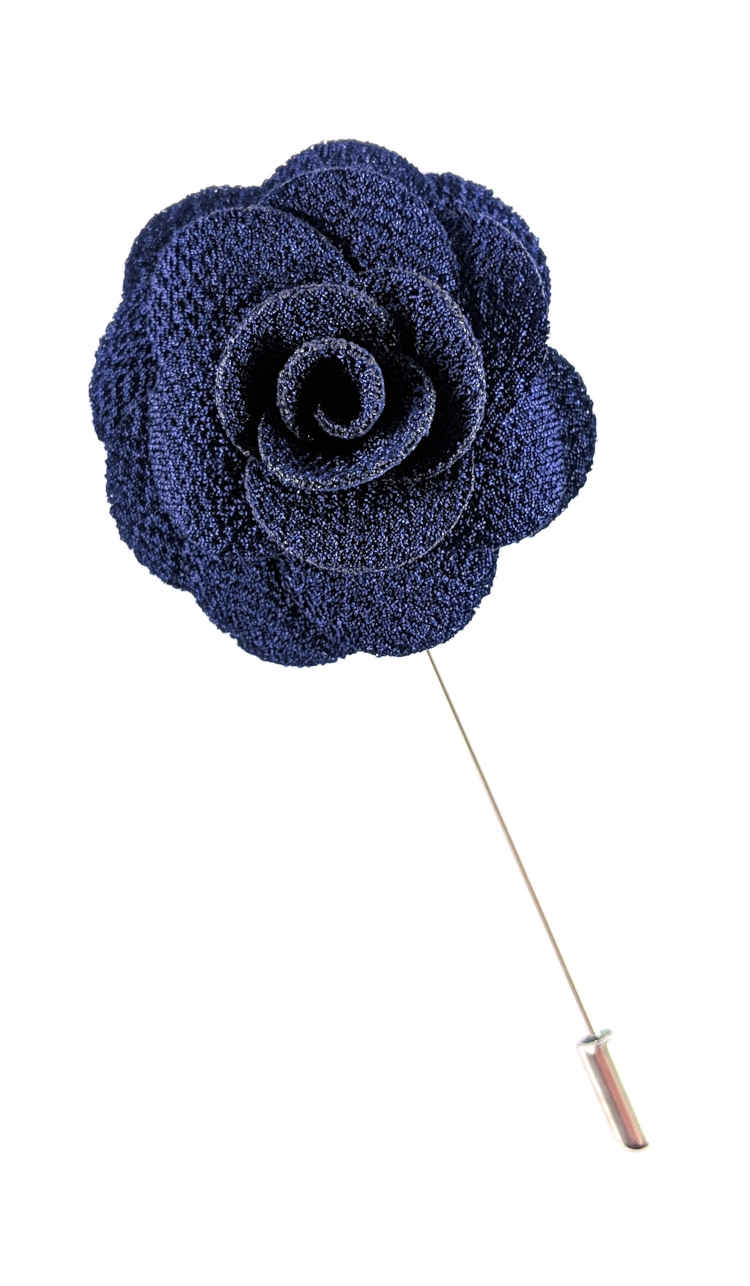 Men's Royal Blue Lapel Flower | Suit Pin | Royal Blue Lapel Pin | Classic Lapel Pins | Brock Alexander