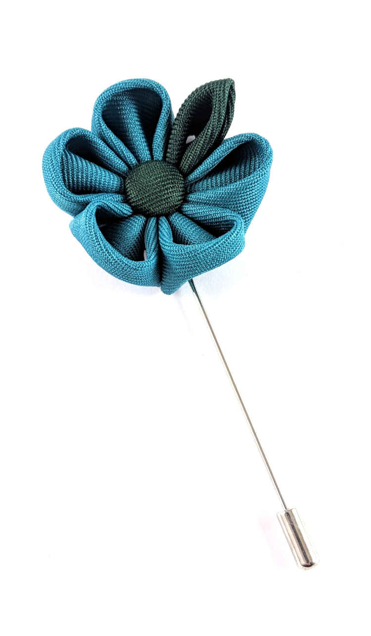 Men's Turquoise and Green Lapel Flower | Suit Pin | Turquoise and Green Lapel Pin | Classic Lapel Pins | Brock Alexander