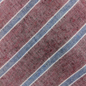 Striped men's tie Fabric | 100% cotton necktie fabric | Fabric Detail | Brock Alexander