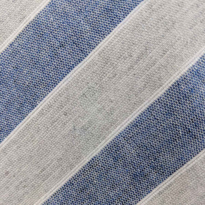 Blue and Grey Striped Fabric | 100% cotton necktie fabric | Fabric Detail | Brock Alexander