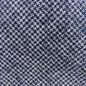 Navy and White Textured Fabric | 100% cotton necktie fabric | Fabric Detail | Brock Alexander