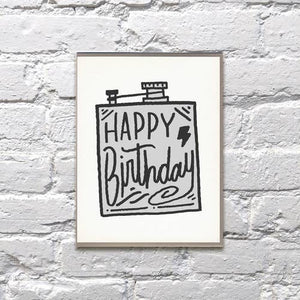Flask Birthday Card