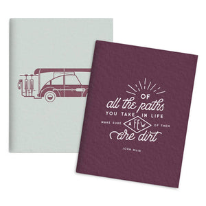 Adventure and Dirt Paths Set of 2 Pocket Notebooks