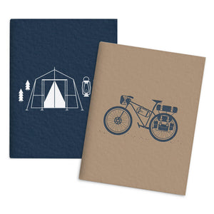 Bicycle Camping Set of 2 Pocket Notebooks