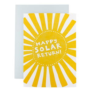 Happy Solar Return Card