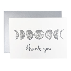 Moon Phases Thank You Card