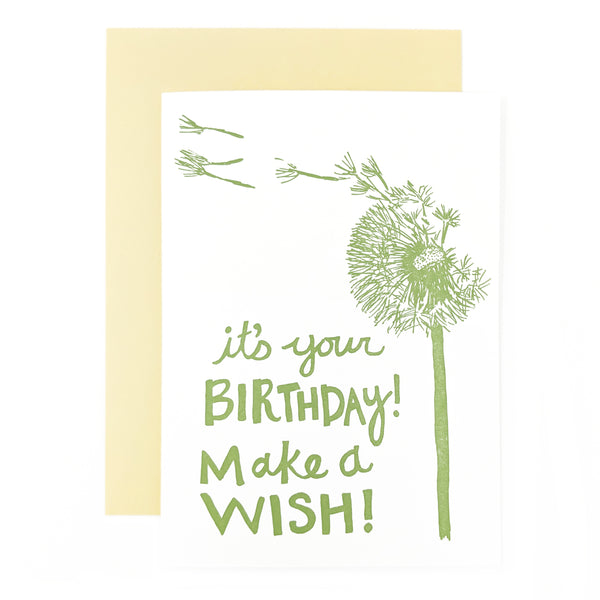 Dandelion Wish Birthday Card