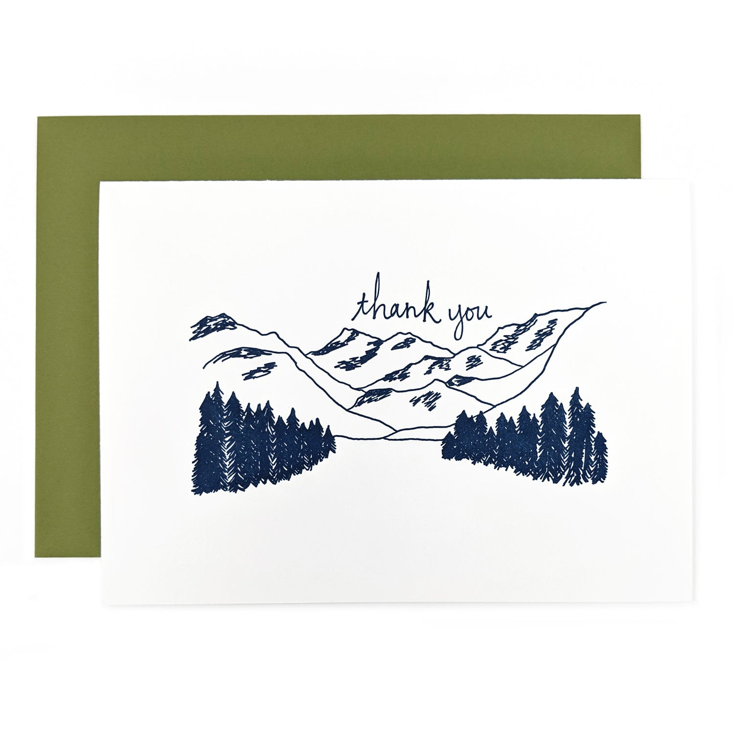 Mountains Thank You Card