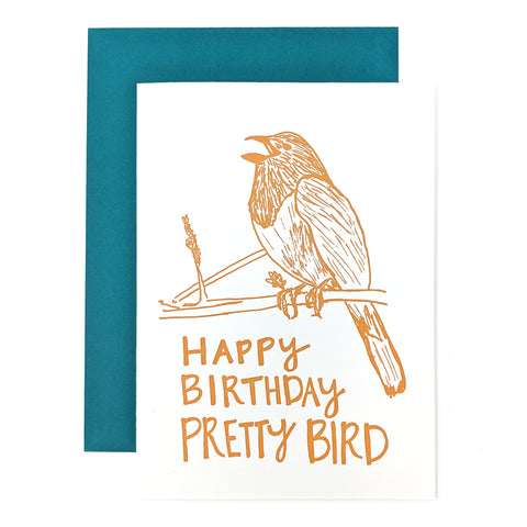 Pretty Bird Birthday Card