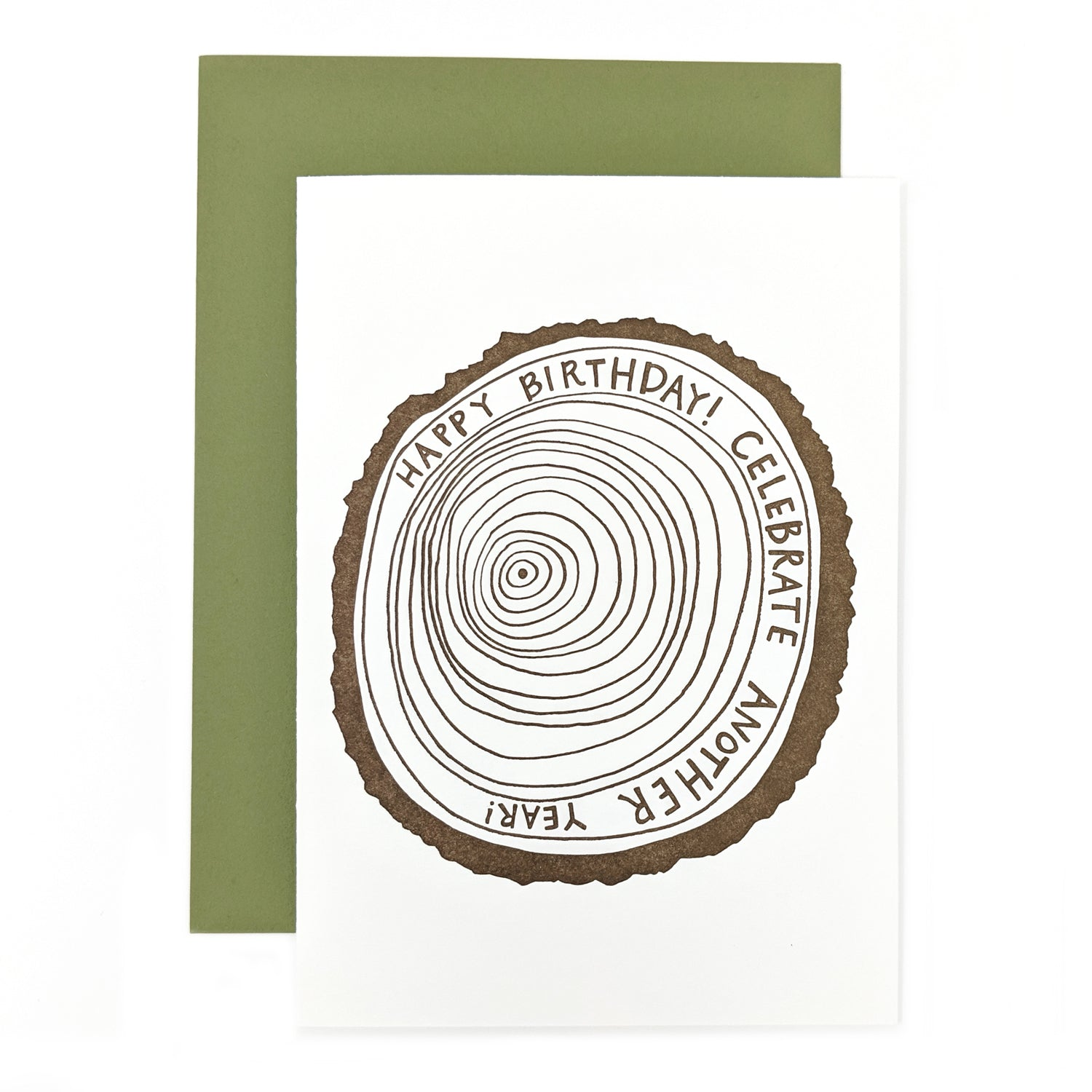 Tree Ring Birthday Card