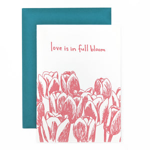 Tulips Love Card