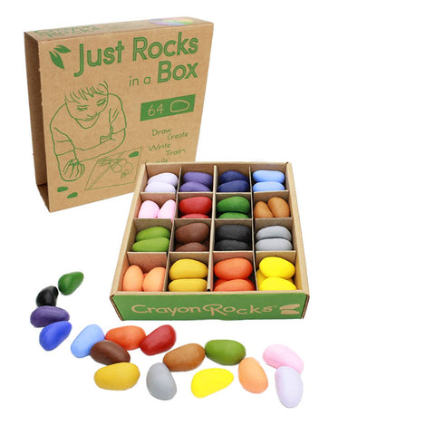 Just Rocks in a Box -  64 Crayons in 16 Colors