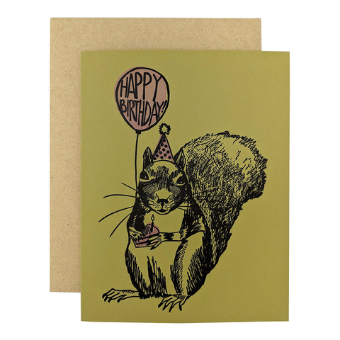 Squirrel Balloon Birthday